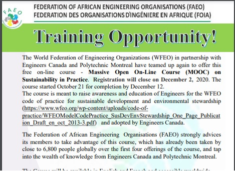 TRAINING OPPORTUNITY @ Online